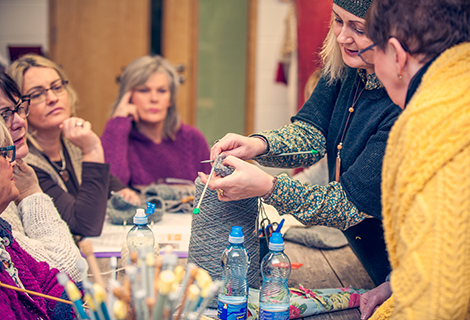 Knitting Instructor Edel MacBride Workshop - Donegal Northwest Ireland Knitting Retreat